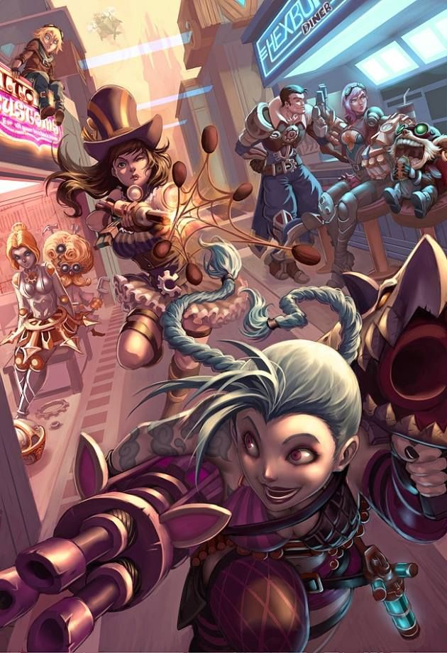 Piltover - League of Legends  Love this! Jink Caitlyn and Vi a few of my favorite ladies :]
