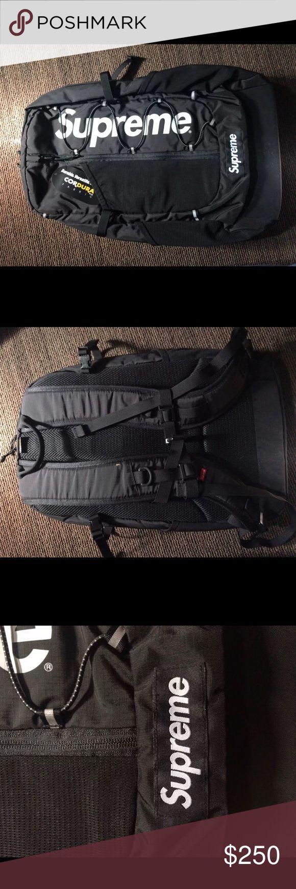 Supreme Black Cordura Backpack New Black Supreme Cordura Backpack, spring/summer 2017 Supreme Bags Backpacks