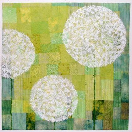 Dandelion by Elsbeth Nusser-Lampe, textile artist (Freiburg, Germany)