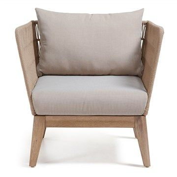Bellano Solid Acacia Timber Frame Indoor/Outdoor $700 Armchair