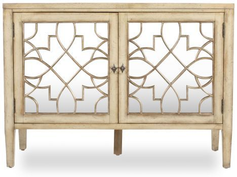 hooker mirrored console mathis brothers furniture