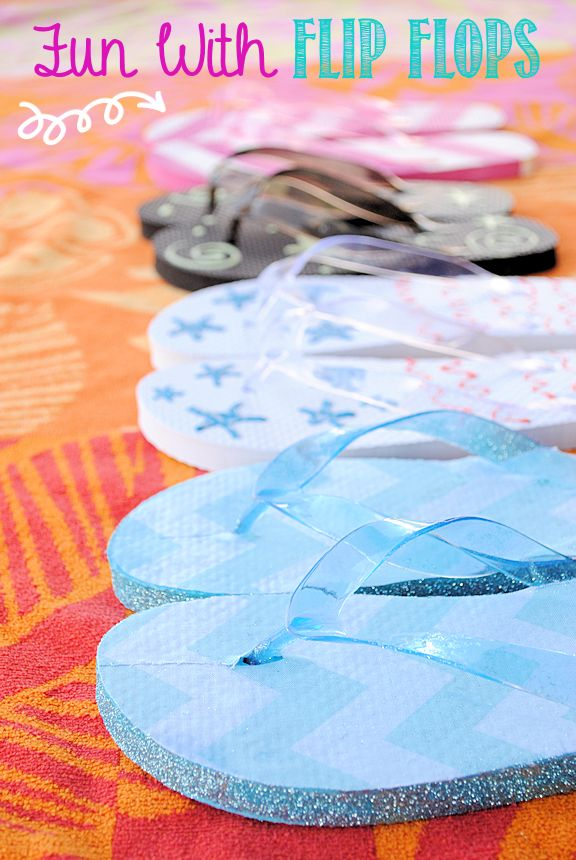 Fun with Flip Flops! This would be fun for the kids to do. :)  Kids Craft by CrazyLittleProjects