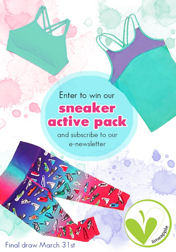 Enter to win a Limeapple Sneaker Active Pack for tween girls.