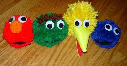 Pom pom characters. Where's Grover?