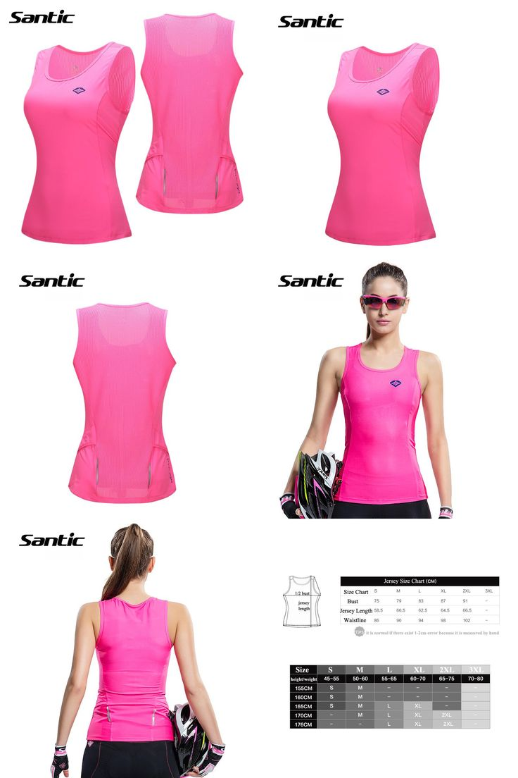 [Visit to Buy] Santic Women Cycling Jersey Sleeveless Anti-UV Breathable Summer Cycling Clothing Downhill Cycle Bike Jersey Chaleco Ciclismo #Advertisement