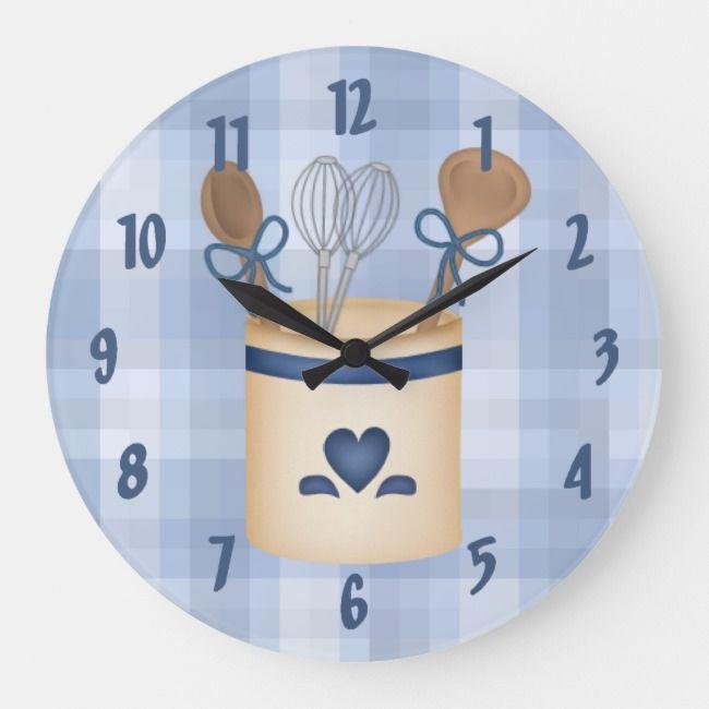 Square Kitchen Wall Clock