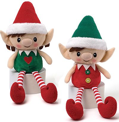 Christmas Elf dolls to remind you of your friends back home.