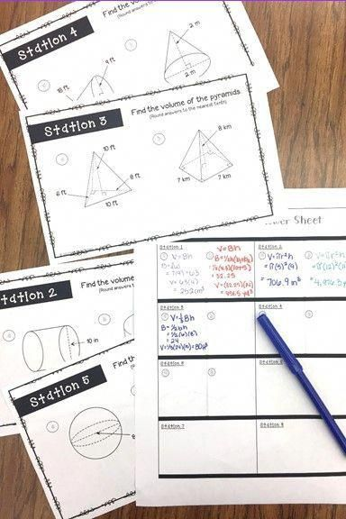 Volume Stations Activity | Teaching geometry, Importance ...