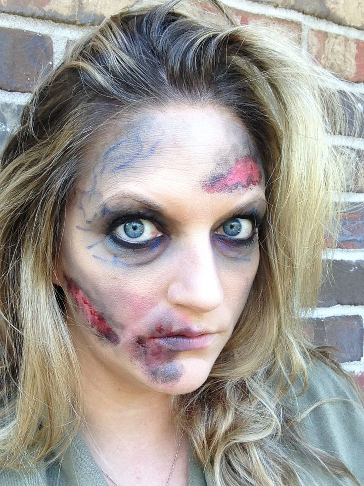 Halloween Zombie Makeup  Easy DIY with makeup that you likely already have in your bag