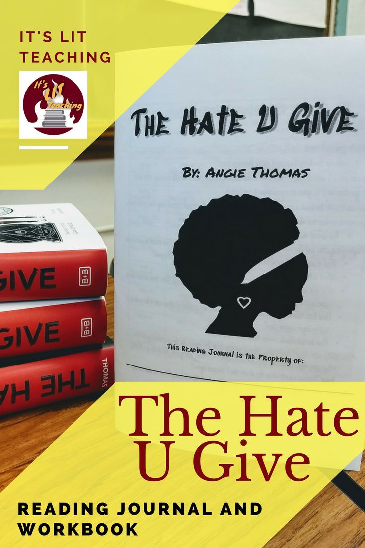 The Hate U Give Reading Journal And Workbook A Literature