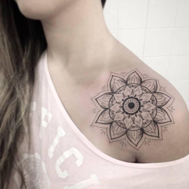Image result for mandala front shoulder tattoo