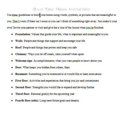 ... Dbt House, Dbt And House, House Instructions, Activities Adaptations