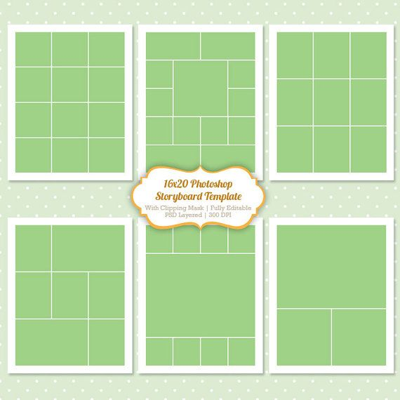 68 Best Collagestoryboard Templates Images On Pinterest Photoshop