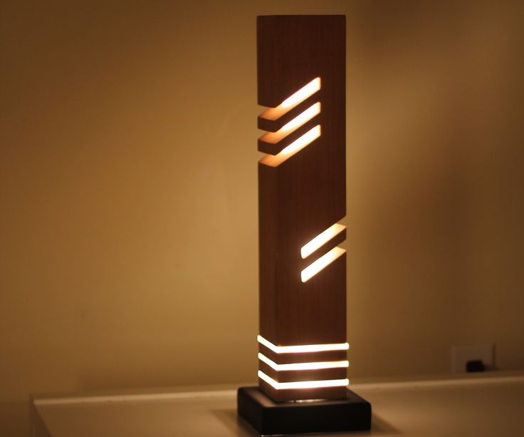 """This is a modern looking decorative table light made from wood (cedar) 5cm diameter acrylic rod and a steel base.IF YOU LIKE THIS PROJECT, DON'T FORGET TO VOTE IT IN THE """"LIGHTS"""" CONTEST, PLEASE &THANK YOU."""