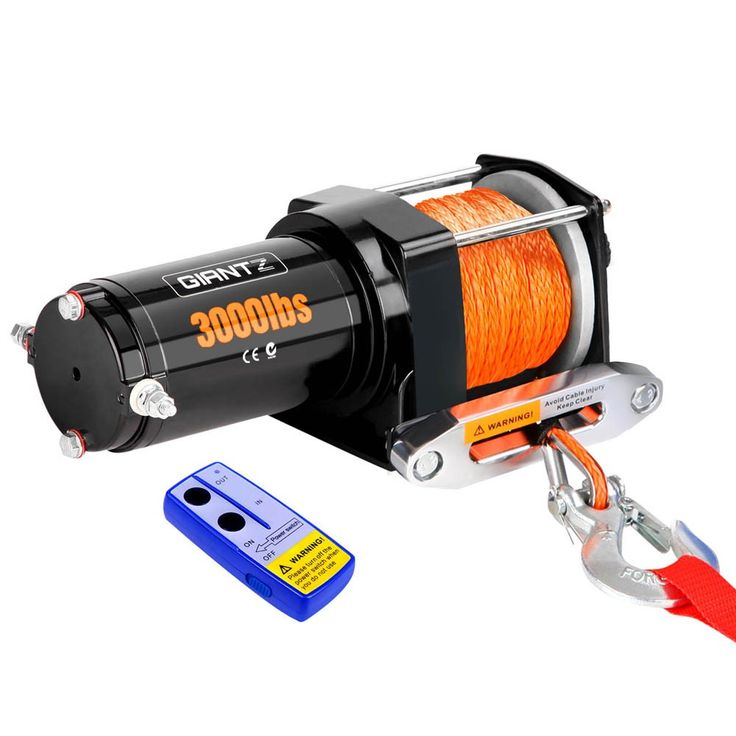 3000lbs Electric Winch w/ Synthetic Cable & Remote