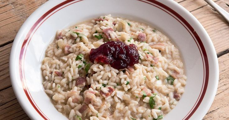 A tasty risotto recipe which was first invented from leftovers. This money-saving meal from Jack Monroe combines the winning duo of Brie and crispy bacon.