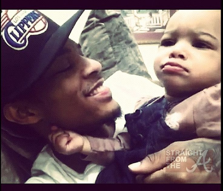 Bow Wow Daughter Shai ... Omg is he wearing a clippers hat.. I'm in love omg