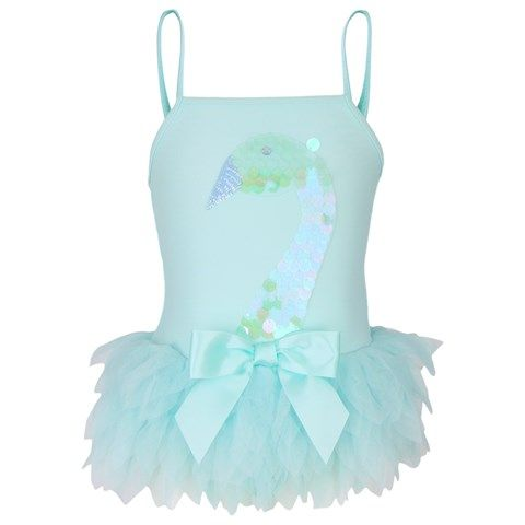 Kate Mack - Biscotti Tutu Swimsuit with Swan Sequins