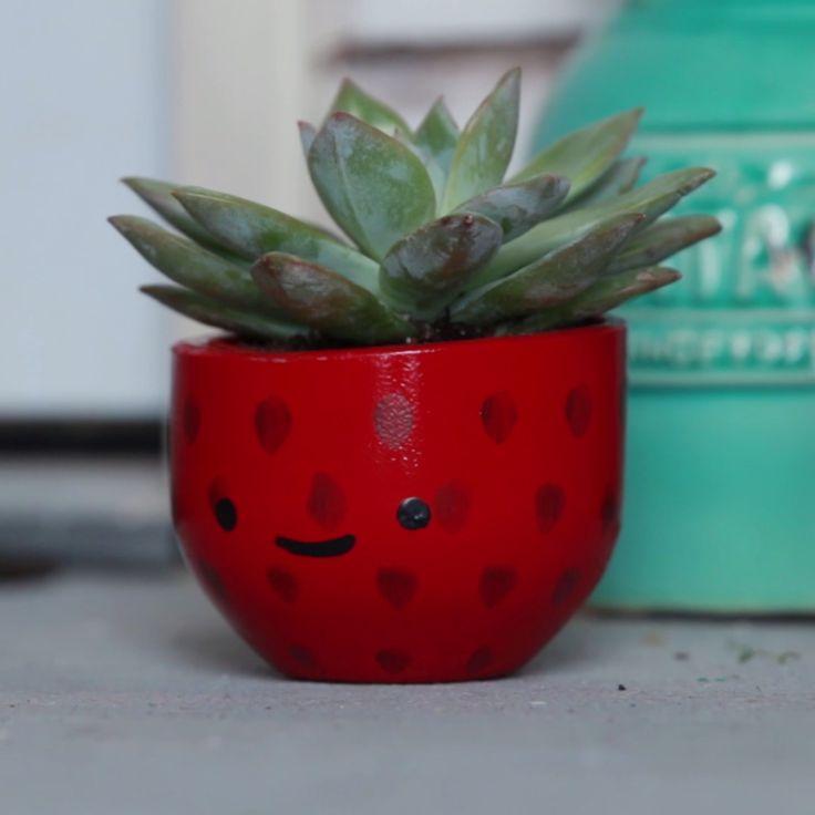 Strawberry Succulent Planters