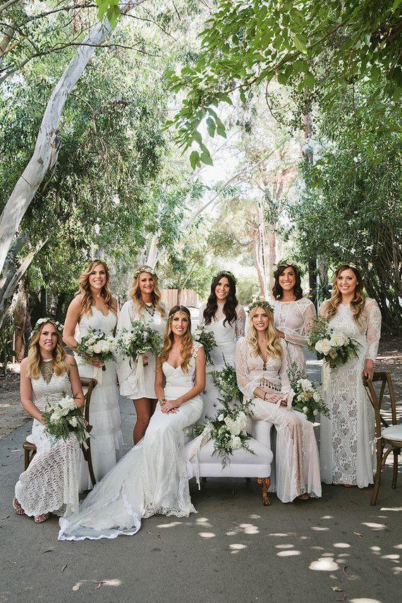 Boho Bridesmaids | image via 100 layer cake