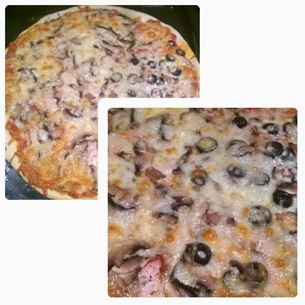 Pizza na cienkim cieście     1,5 szklanki mąki,    szczypta soli    ok 1/2 kostki drożdży – 50g,    2/3 szklanki letniej wody,...
