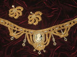 Tina's handicraft : crochet set, necklace & earrings