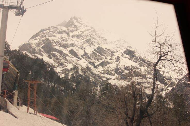 View from the cable car in Solang Valley, Manali.
