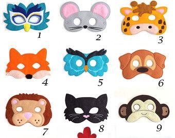 Elija cualquier máscara fieltro de máscara, máscara de los niños, niños, niños mascarilla, máscara de Animal, disfraz de Halloween, juegos de simulación, de vestir, favores de partido, traje