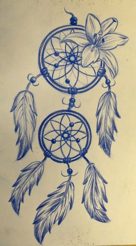 tattoo dreamcatcher – with a rose instead