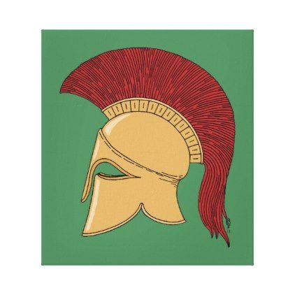 Corinthian Helmet Canvas Print - decor gifts diy home & living cyo giftidea