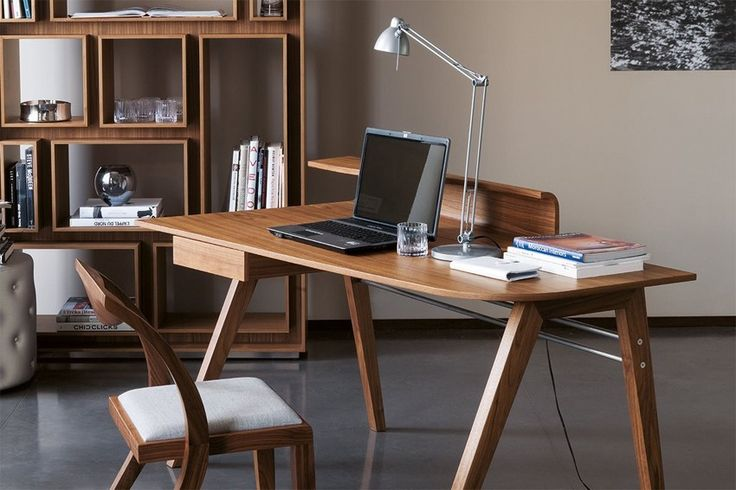 Writing #desk in canaletto walnut and one #drawer. by @porada0366
