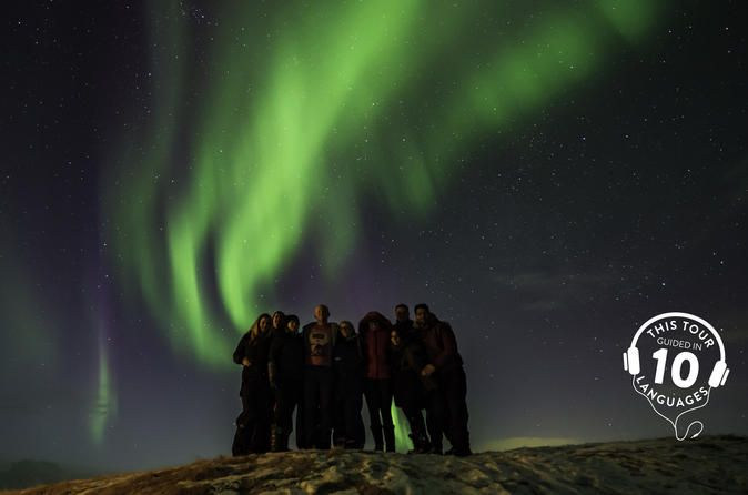 Classic Northern Lights Tour from Reykjavik with Live Guide and Touch-Screen Audio Guide Experience the majesty of Aurora Borealis in Iceland on this 3-hour Northern Lights tour from Reykjavik. When darkness falls, travel deep into rural Iceland and admire sweeping views over the snowy wilderness. Gaze upward into the skies and keep watch for sightings of the Northern Lights — widely considered among the world's most fascinating natural attractions. Snap the spectacular lights...