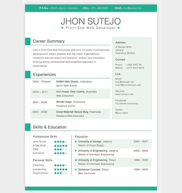 Best 25 Resume Templates Ideas On Pinterest Layout Cv