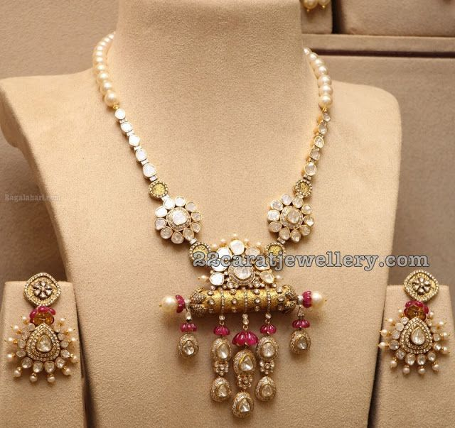 Latest Fancy Kundan Set Chandbalis