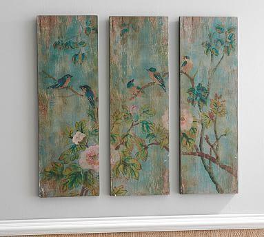 Bird & Branch Triptych Panels - Set of 3 #potterybarn
