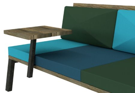 LAZE SIDE TABLE - Easy to use table to place flexible on the LAZE Lounge sofa.