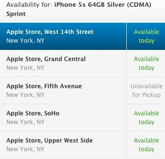 Apple Retail Stores Launch In-Store Pickup Option for iPhone 5s and 5c with Availability Listings - http://www.aivanet.com/2013/09/apple-retail-stores-launch-in-store-pickup-option-for-iphone-5s-and-5c-with-availability-listings/