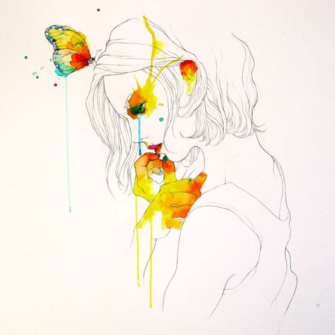 love this line drawing!The Artists, Tattoo Artists, Watercolors, Conradroset, Line Drawing, Water Colors, Barcelona Spain, Conrad Roset, Woman Drawing