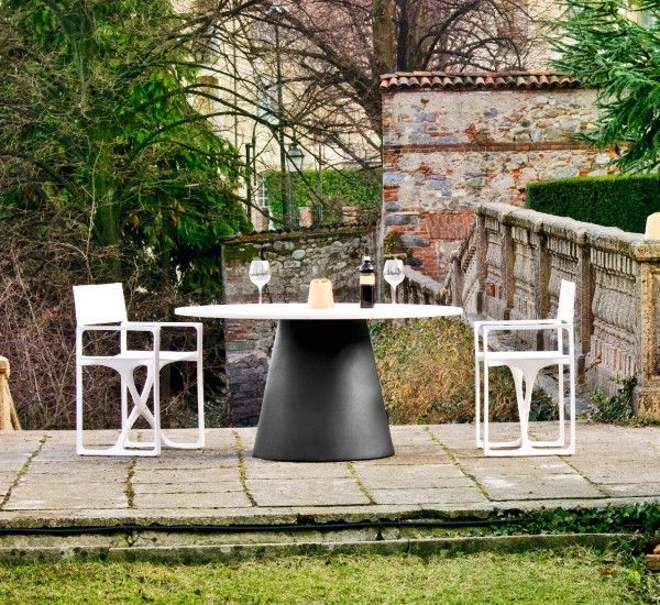Lou Lou is a table by Raffaella Mangiarotti for Serralunga.  Lou Lou is a table with a distinct light shape.