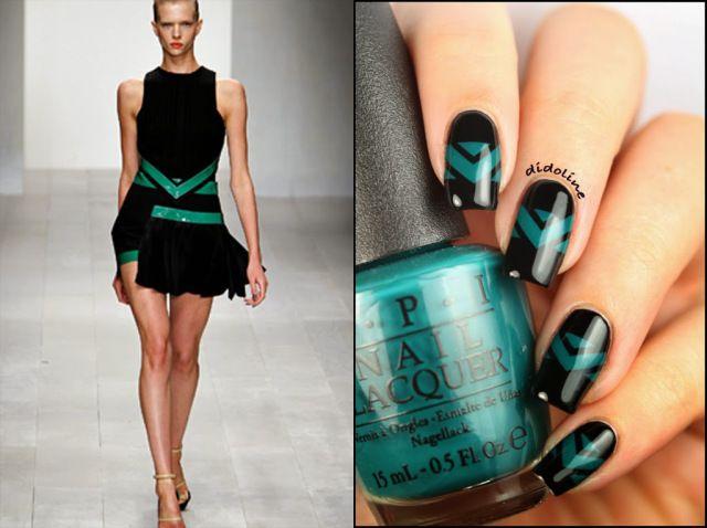 David Koma inspired nails by Didoline's Nails