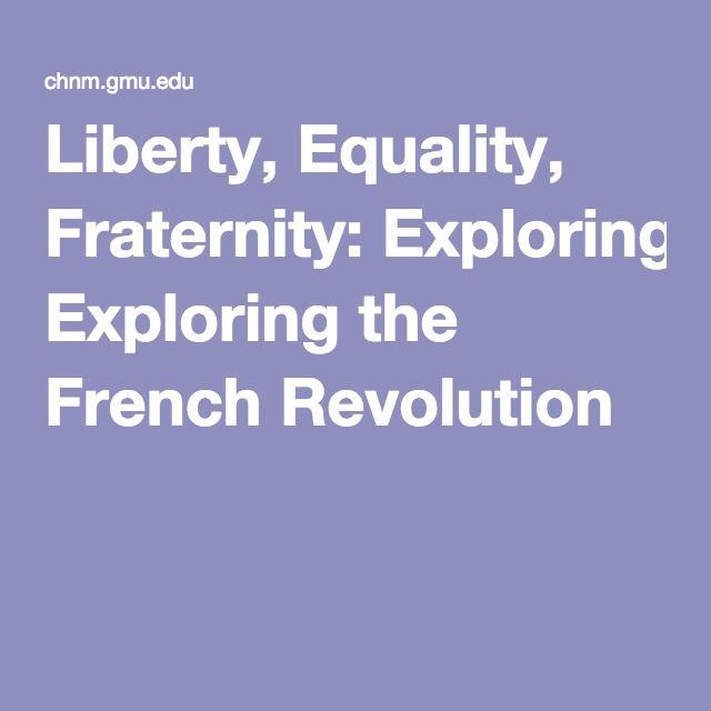 french revolution liberty equality fraternity essay