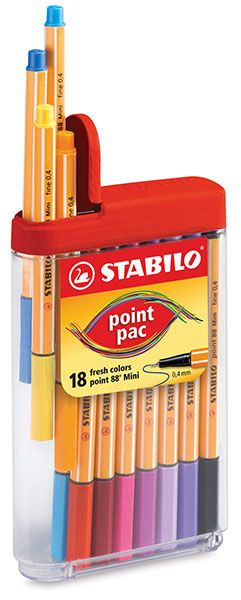 Stabilo Point 88 Mini Pen Set. I love these markers.