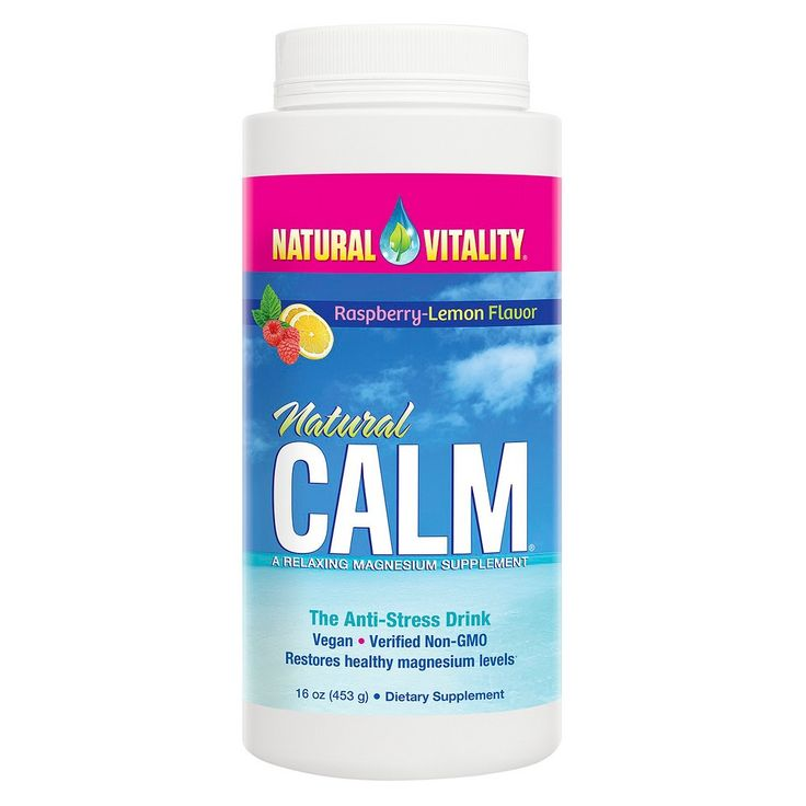 Natural Vitality Natural Calm Anti-Stress Magnesium Powder Raspberry Lemon - 16 oz