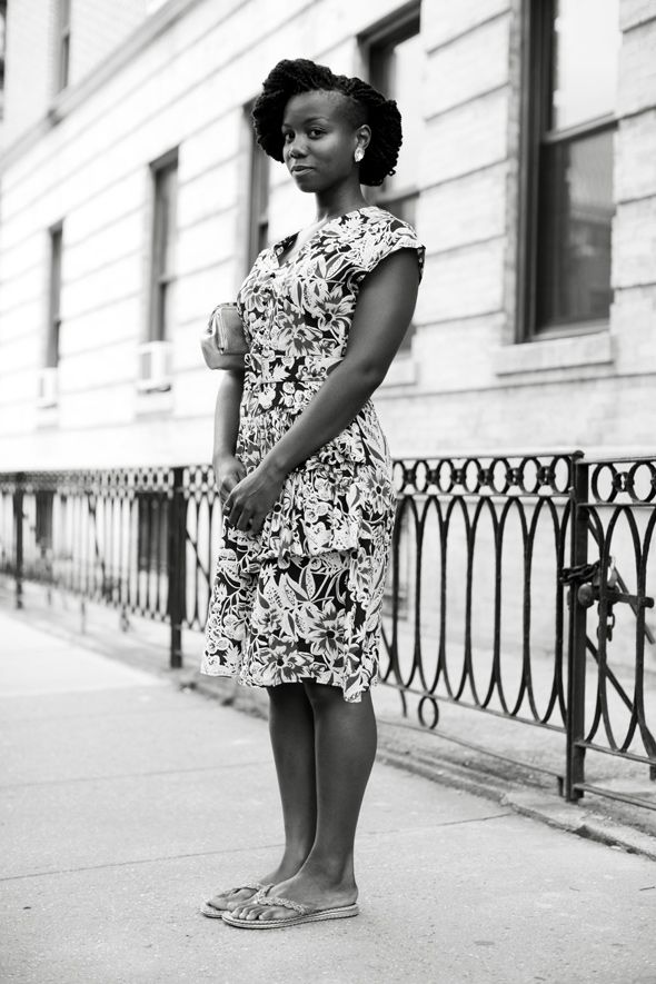 The difference that black and white makes. I would probably have no interest in this dress in color.