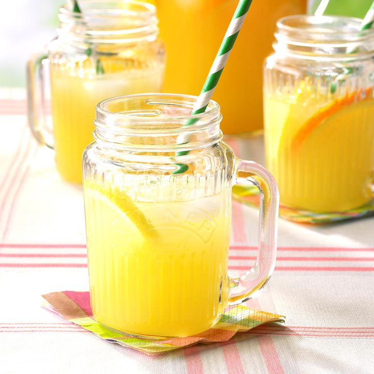 Orange Lemonade Recipe -This juice is a favorite at our place. I'll often double the batch and send a jar next door to my mother-in-law! I was looking for a way to sweeten lemonade without using more sugar when I came up with the recipe. —Wendy Masters, Grand Valley, Ontario