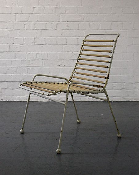 Ernest Race; Enameled Metal and PVC 'Springbok' Chair for the Festival of Britain, 1951.
