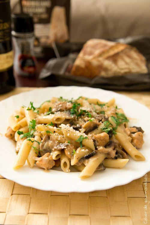 Pates Poulet Marsala | Marsala & Chicken Pasta... So creamy !