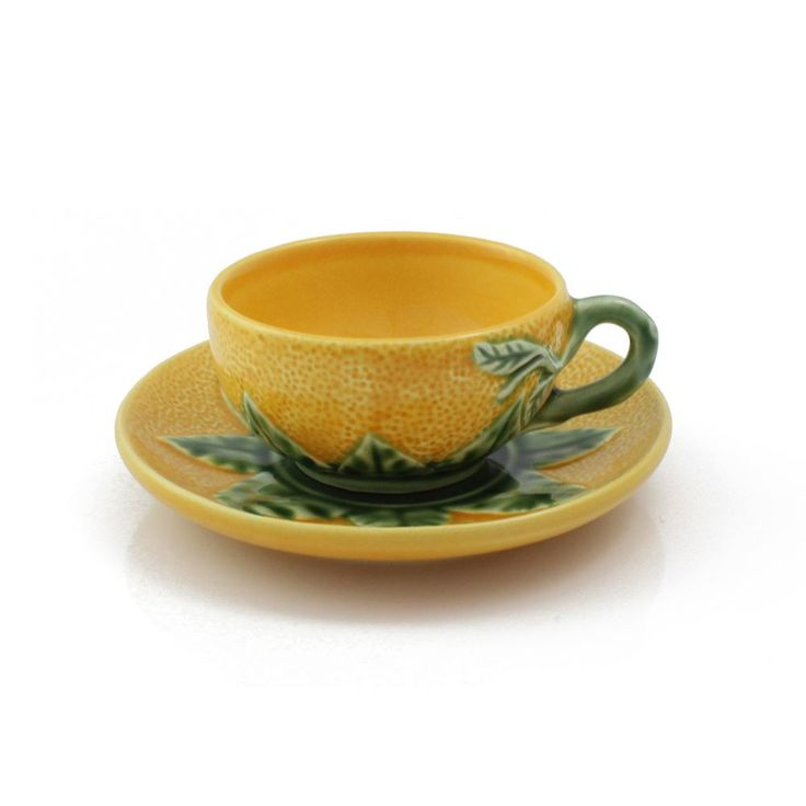 Bordallo Pinheiro Orange Coffee Cup & Saucer