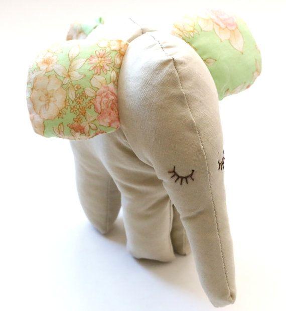 Stuffed ElephantBaby soft toyPlush animal by penhands on Etsy, €14.00