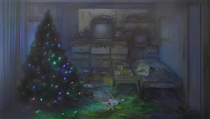 "Brandi Twilley, ""Christmas Tree"" (2015), oil on canvas, 32 x 56 inches"